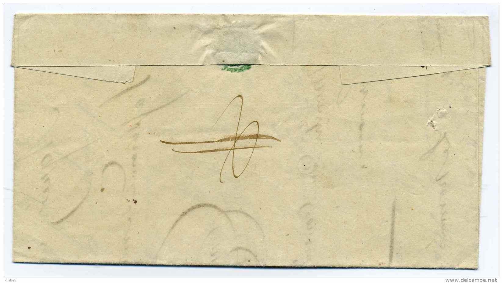 Cad PARIS FRANCHISE + T15 St Germain En Laye + PP Barée / Taxe Barrée Au Dos / 1848 - 1801-1848: Precursors XIX