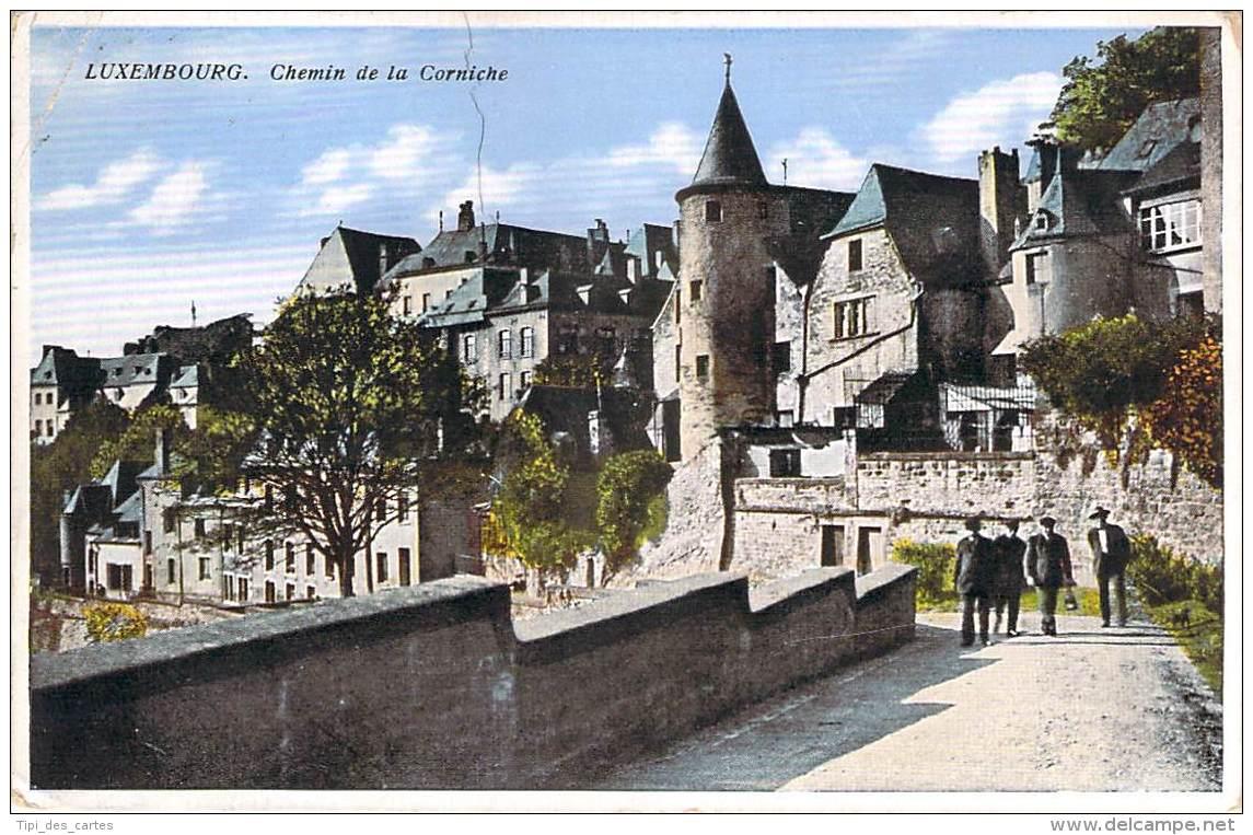 Luxembourg - Chemin De La Corniche (colorisée) - Luxembourg - Ville