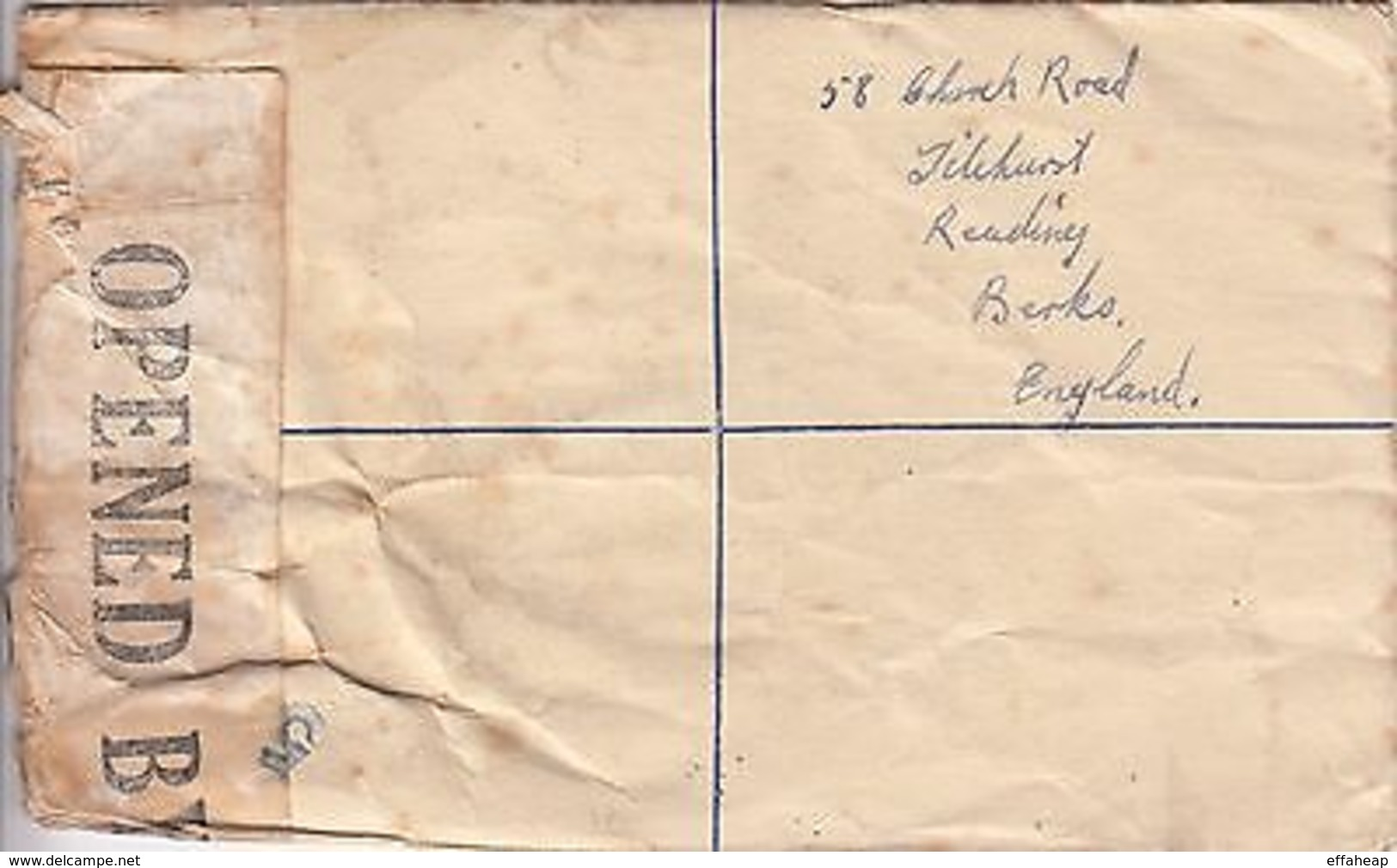 Malta: Registered Censored Cover, With 2 Customs Cachets, To Reading, 1943 - Malta (...-1964)