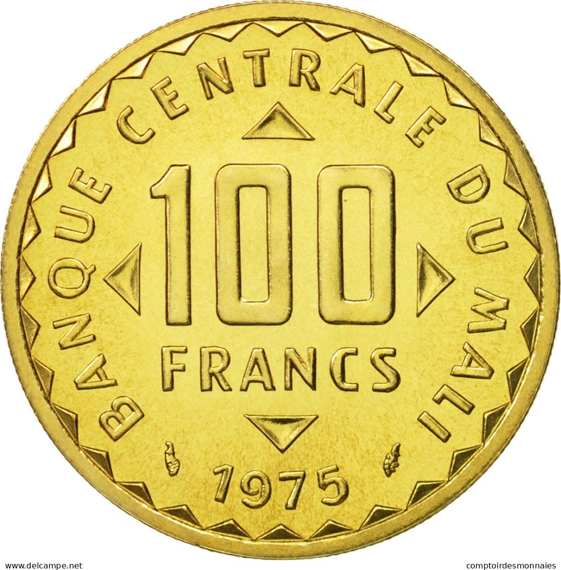 Mali, 100 Francs, 1975, FDC, Nickel-brass, KM:E2 - Mali (1962-1984)
