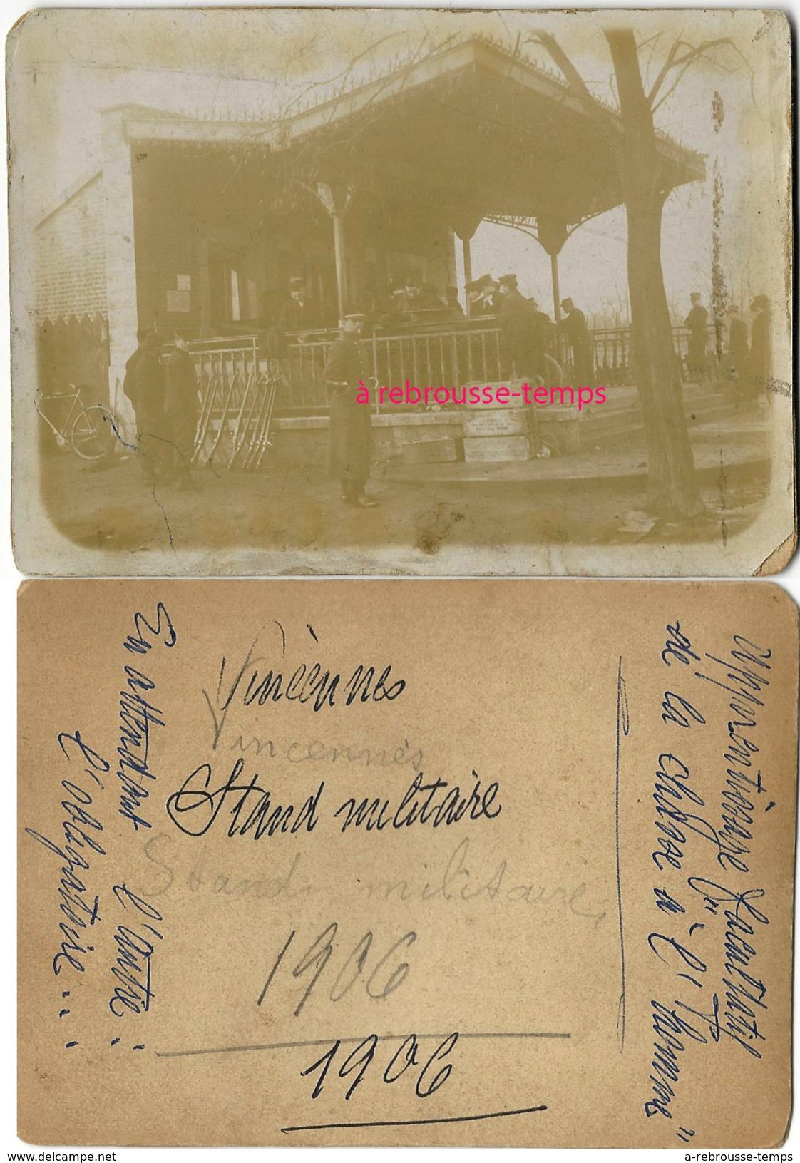"""En 1906-Vincennes-stand Militaire-apprentissage """"chasse à L'homme"""" - Photographs"""
