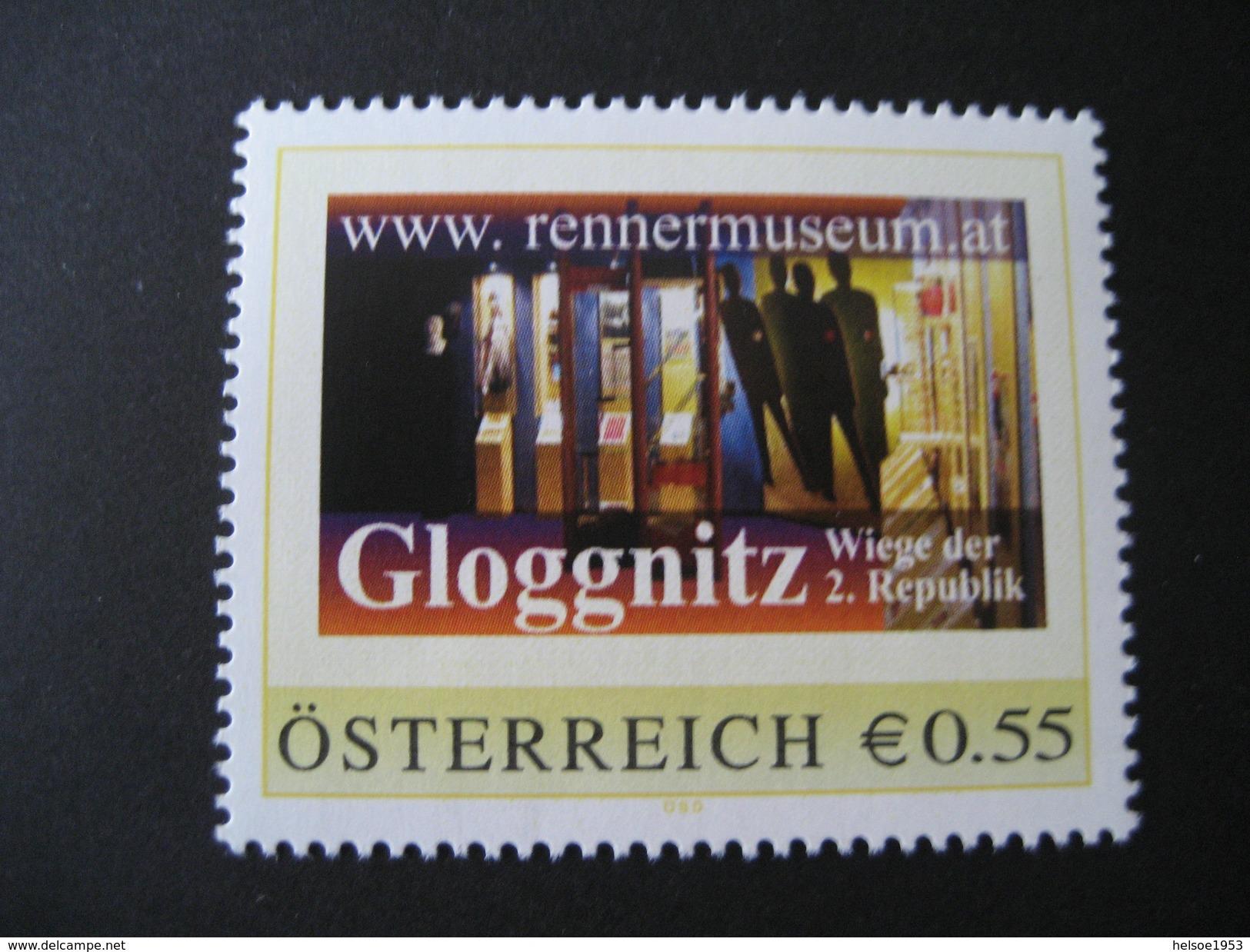 PM 8003023- Rennermuseum Gloggnitz Mit €-Zeichen Postfrisch - Personalisierte Briefmarken