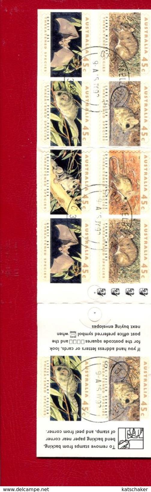 462406897 AUSTRALIA 1992 GEBRUIKT USED OBLITERE GESTEMPELD SCOTT 1246b YVERT C1249 OVPT AUSTRALIAN STAMP EXHIBITION - Oblitérés