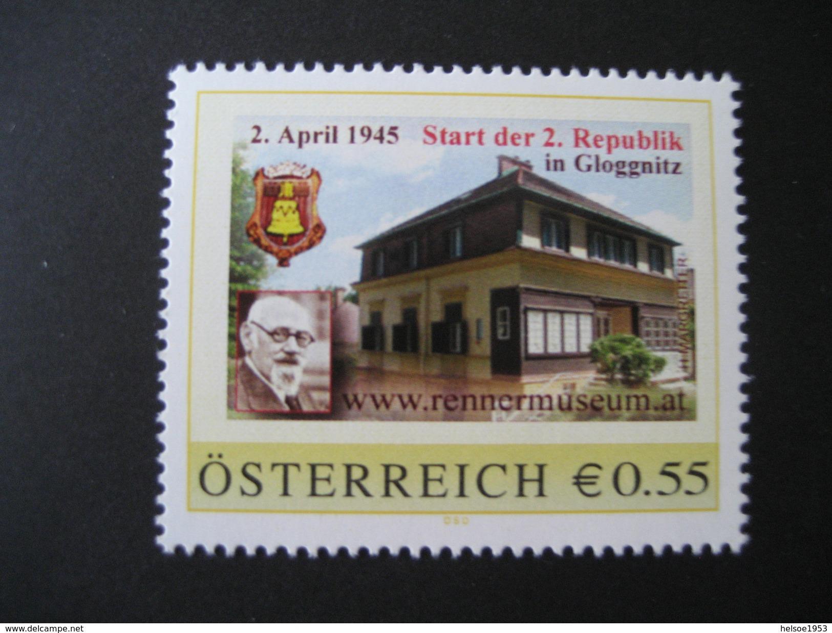 PM Gloggnitz Rennermuseum Mit €- Zeichen Postfrisch - Personalisierte Briefmarken
