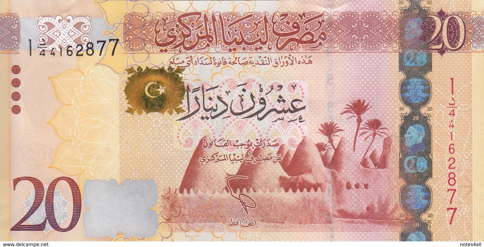 LIBYA 20 DINARS 2013 2015 P-79 UNC */* - Libië