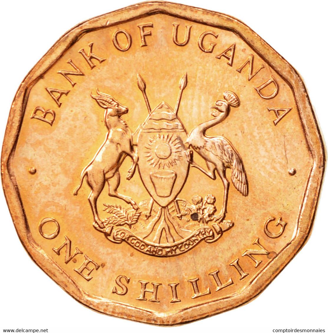 Uganda, Shilling, 1987, SPL, Copper Plated Steel, KM:27 - Ouganda