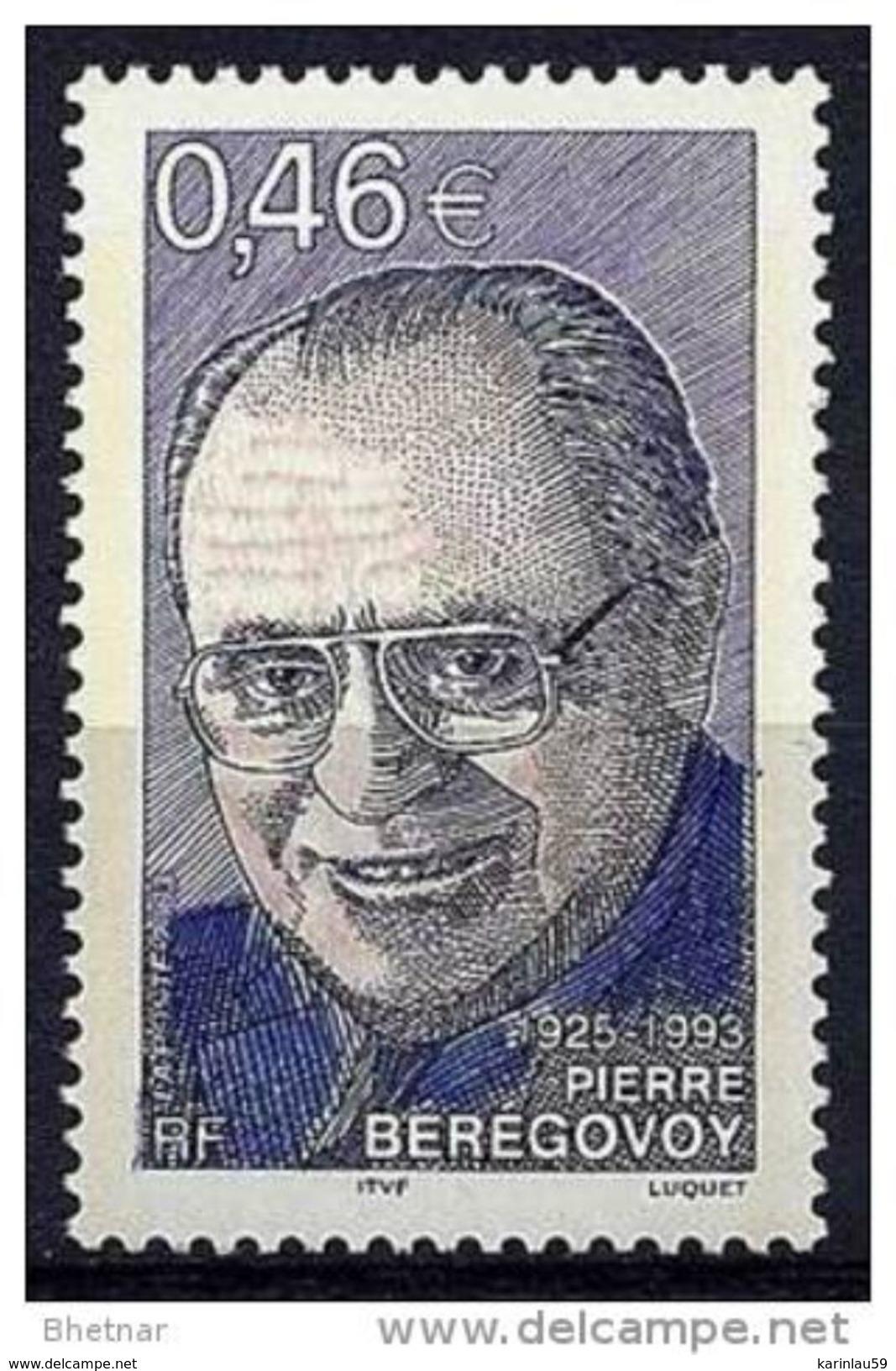 "Timbre France Yt 3553 "" P. Bérégovoy "" 2003 Neuf - Unused Stamps"