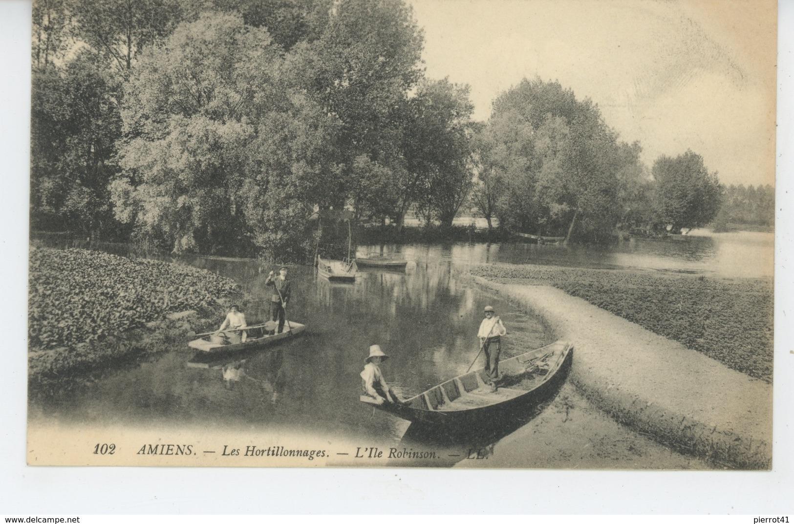 AMIENS - Les Hortillonnages - L'Ile Robinson - Amiens