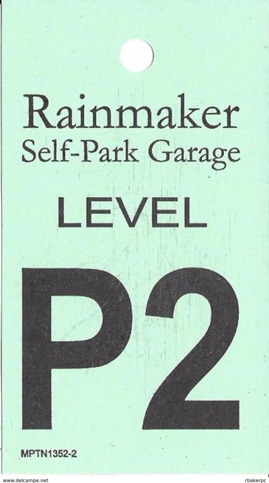 Foxwoods Casino - Ledyard, CT - Rainmaker Self-Park Garage Level P2 - Paper Reminder Card - Casino Cards