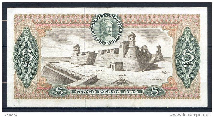 492-Colombie Billet De 5 Pesos Oro 1968 - 076 - Colombie