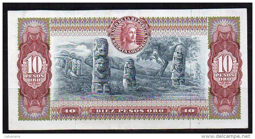 550-Colombie Billet De 10 Pesos Oro 1965 - 890 - Colombie