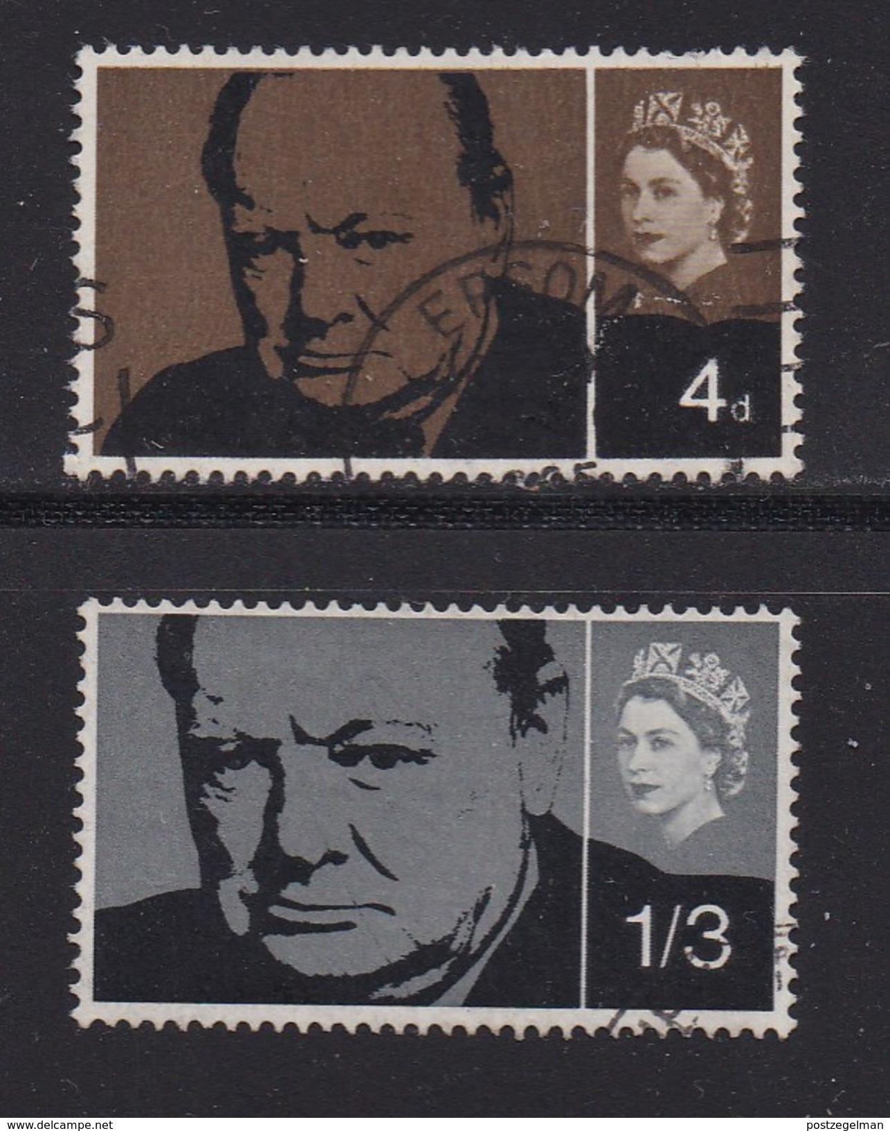 UK 1965 Used Stamp(s) Sir Winston Churchill Nrs. 384-385 - 1952-.... (Elizabeth II)