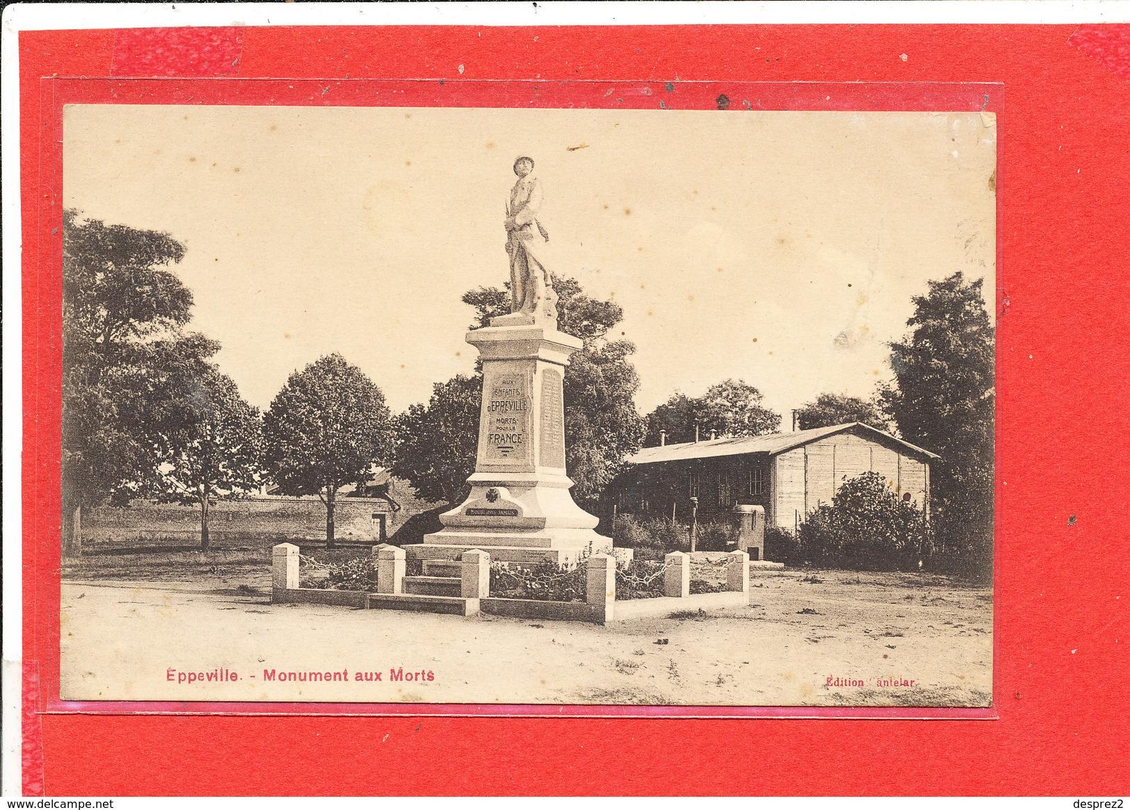 80 EPPEVILLE  Cpa  Monument Aux Morts              Edit Cantelar - Autres Communes
