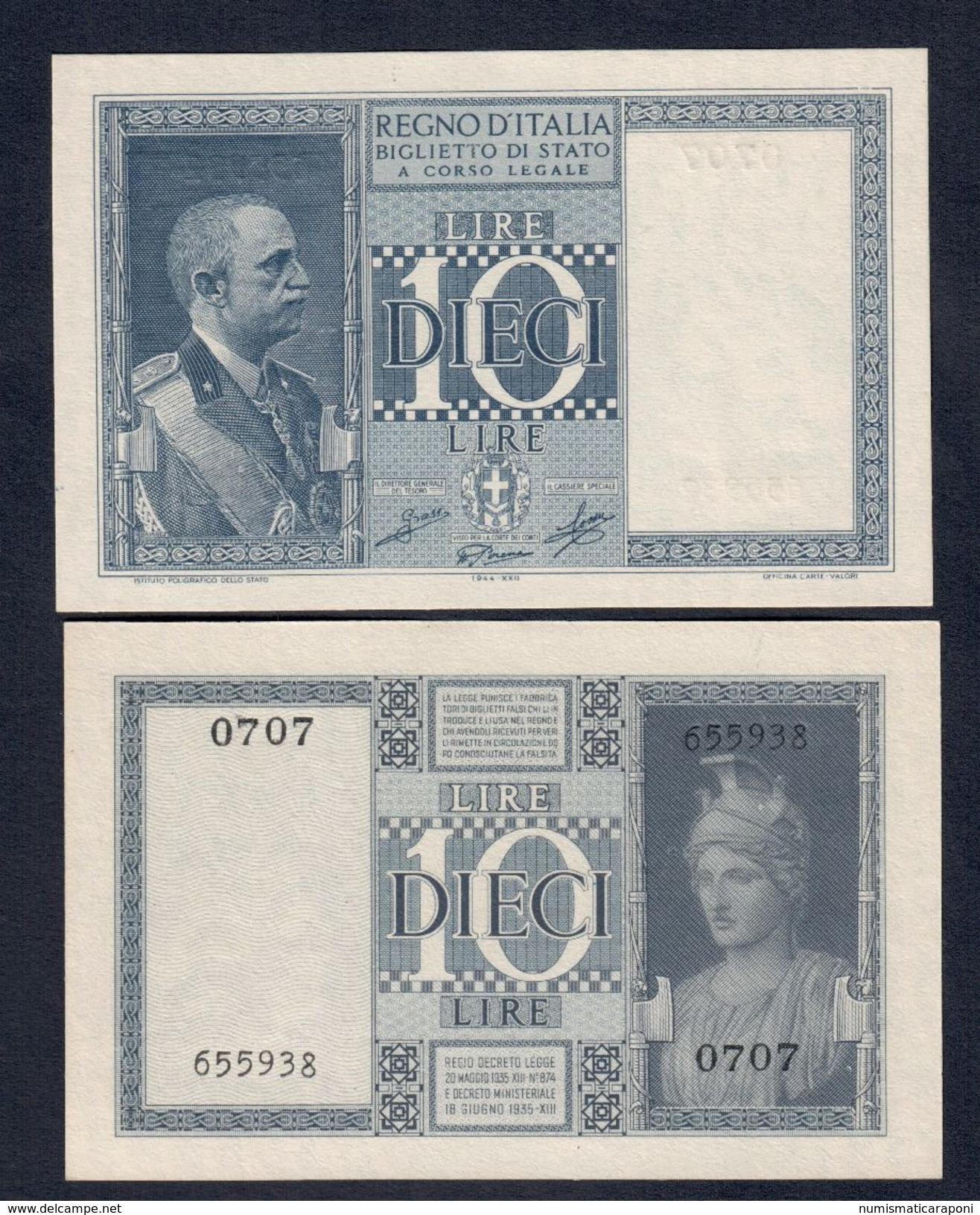 10 LIRE IMPERO 1944 FDS LOTTO 271 - Italia – 10 Lire