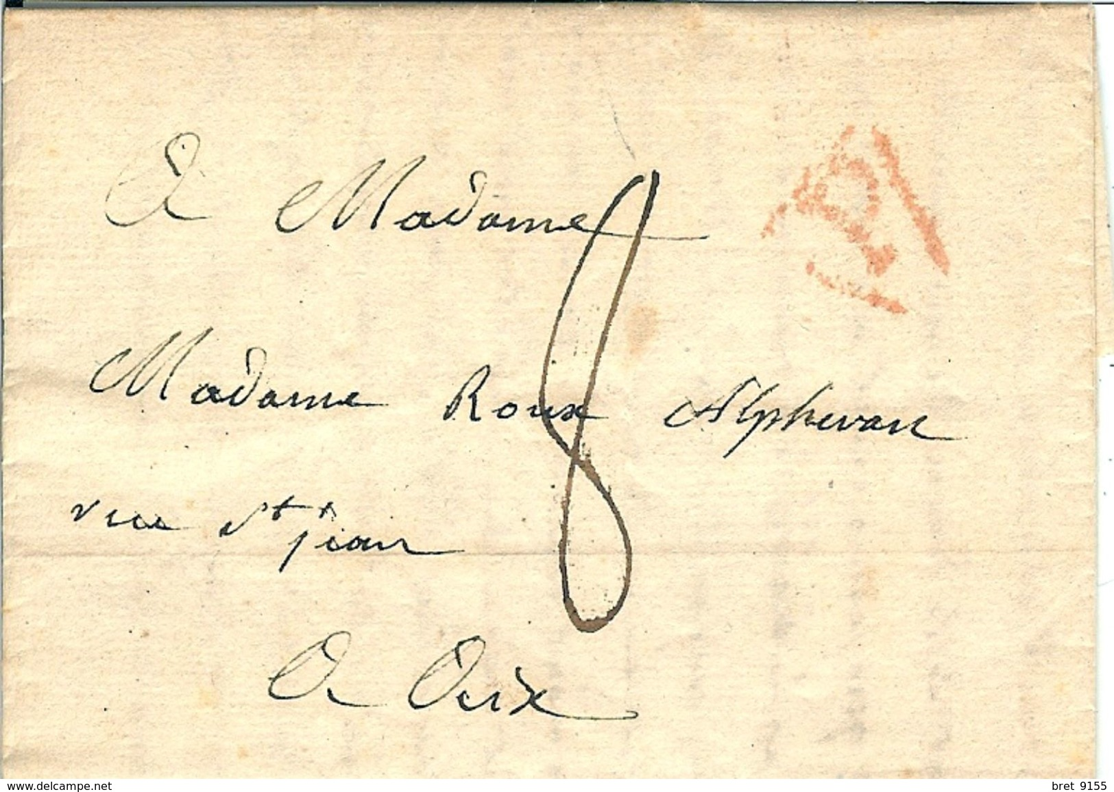 AIX EN PROVENCE MADAME ROUX ALPHERAN 20 FLOREAL AN 10  10MAI 1802 - Marcophilie (Lettres)