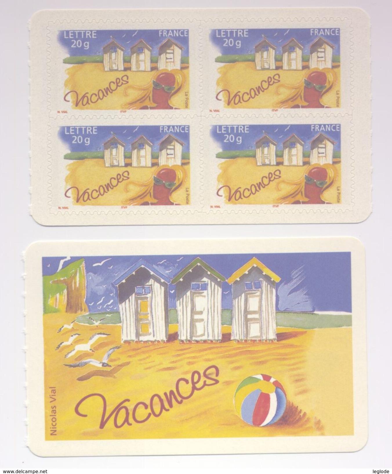 """3788 - """" Timbre Pour Vacances """" (2005) - Frankreich"""
