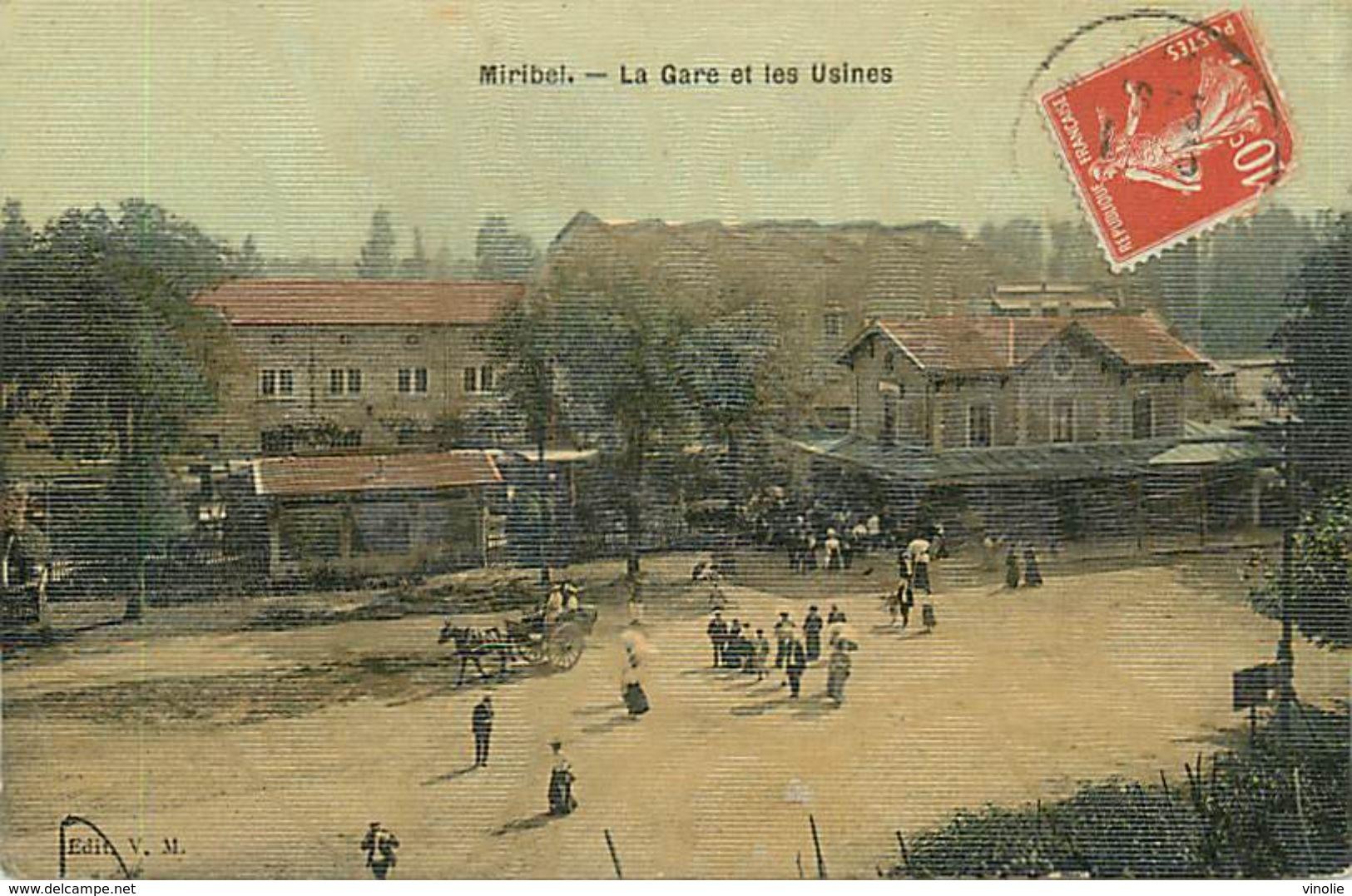 A-17. 7724  :   CHEMIN DE FER.  GARE. TRAIN. MIRIBEL - France