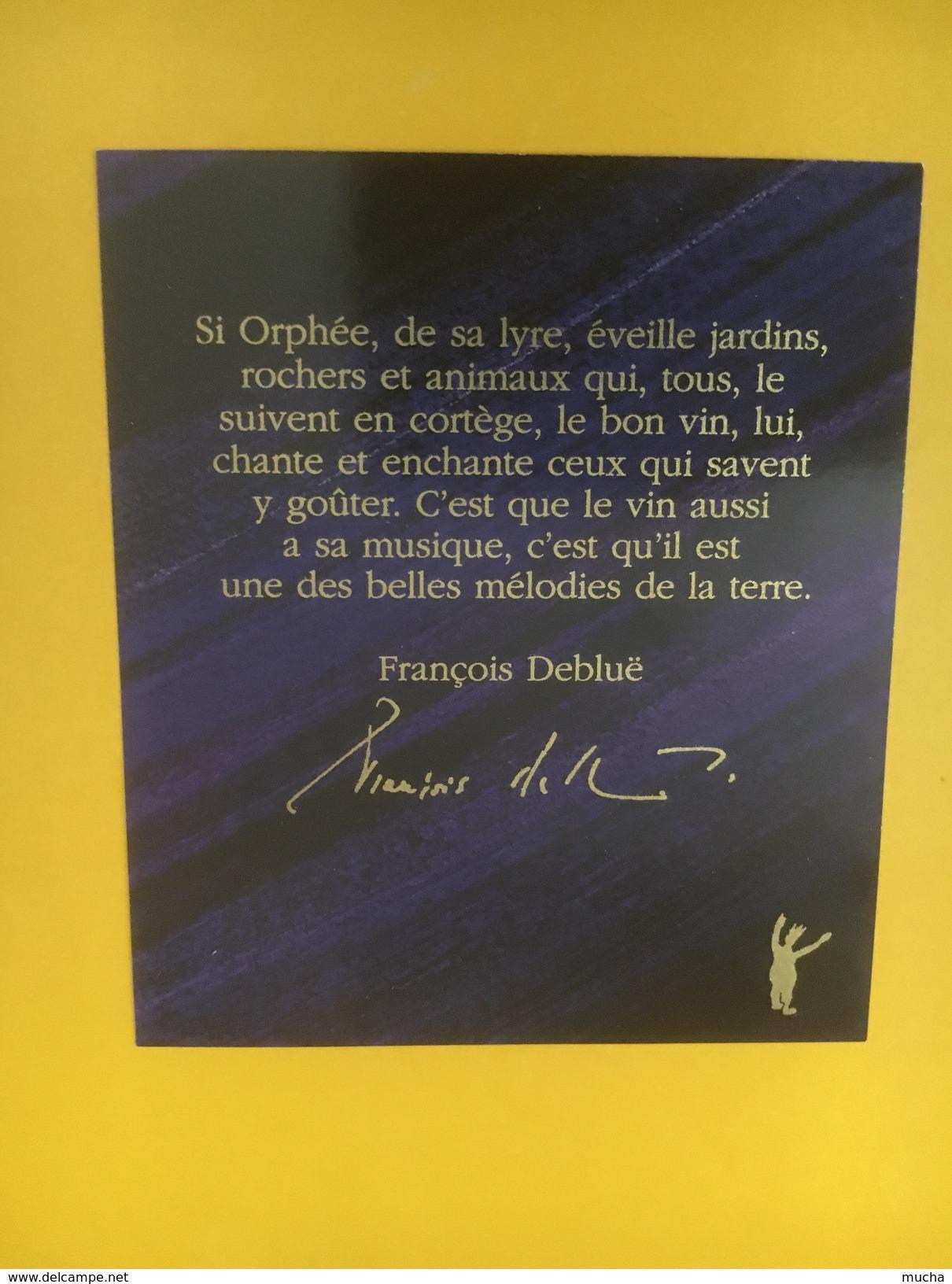 4499 - Fête Des Vignerons Vevey 1999 Le Jardin D'Orphée Lavaux Rouge Hérisson - Etiquettes