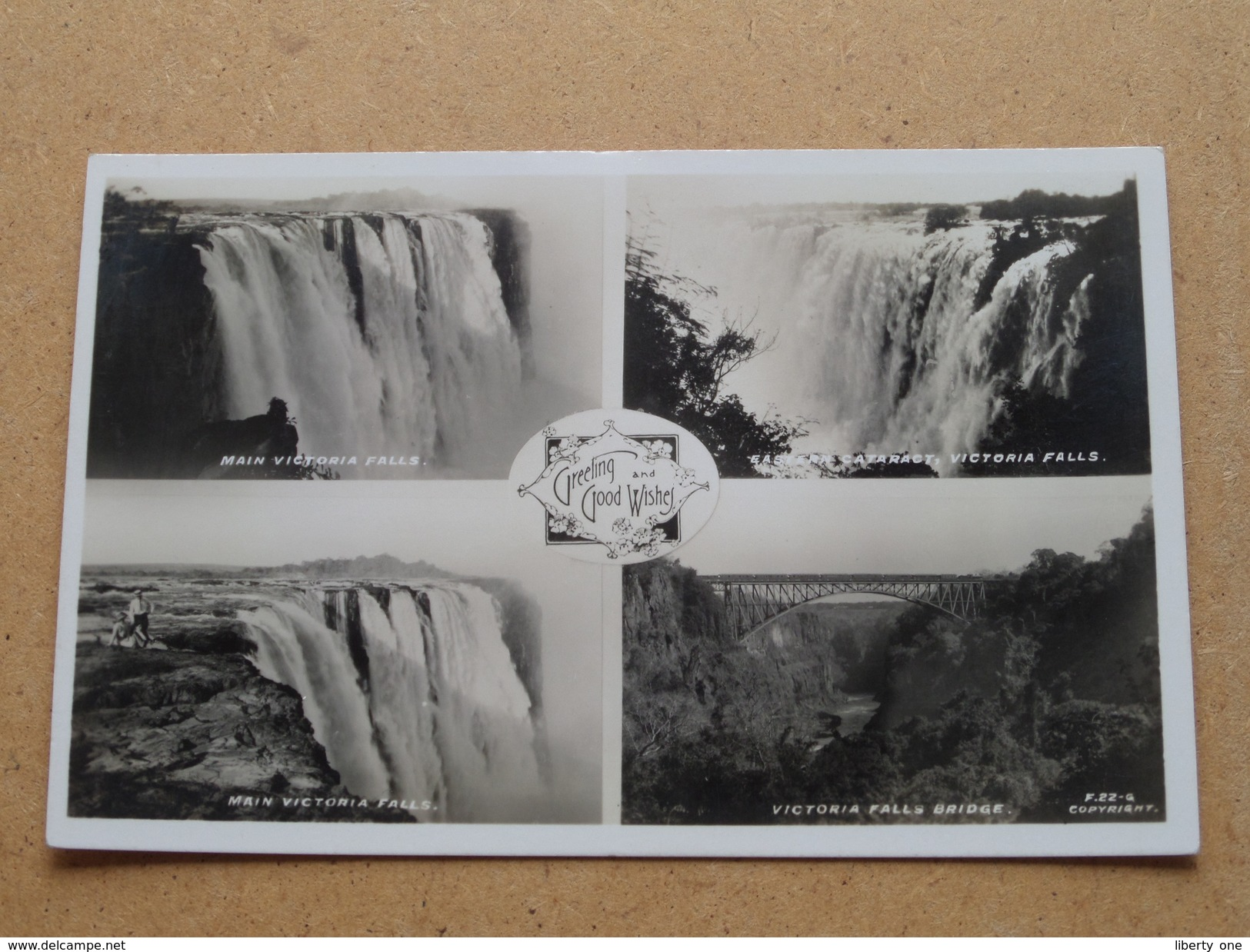 Victoria Falls / Greetings And Good Wishes () Anno 19?? ( Details Zie Foto´s ) !! - Zimbabwe