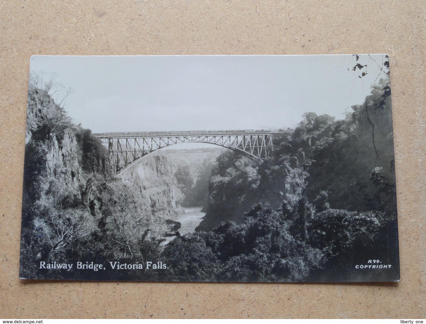 Victoria Falls / RAILWAY Bridge () Anno 19?? ( Details Zie Foto´s ) !! - Zimbabwe