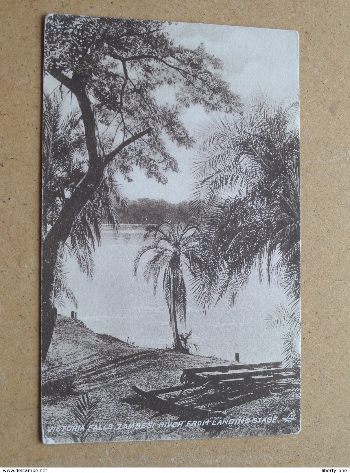 VICTORIA FALLS, ZAMBESI RIVER From Landing Stage ( Tuck / Sepia ) Anno 19?? ( Details Zie Foto´s ) !! - Zimbabwe