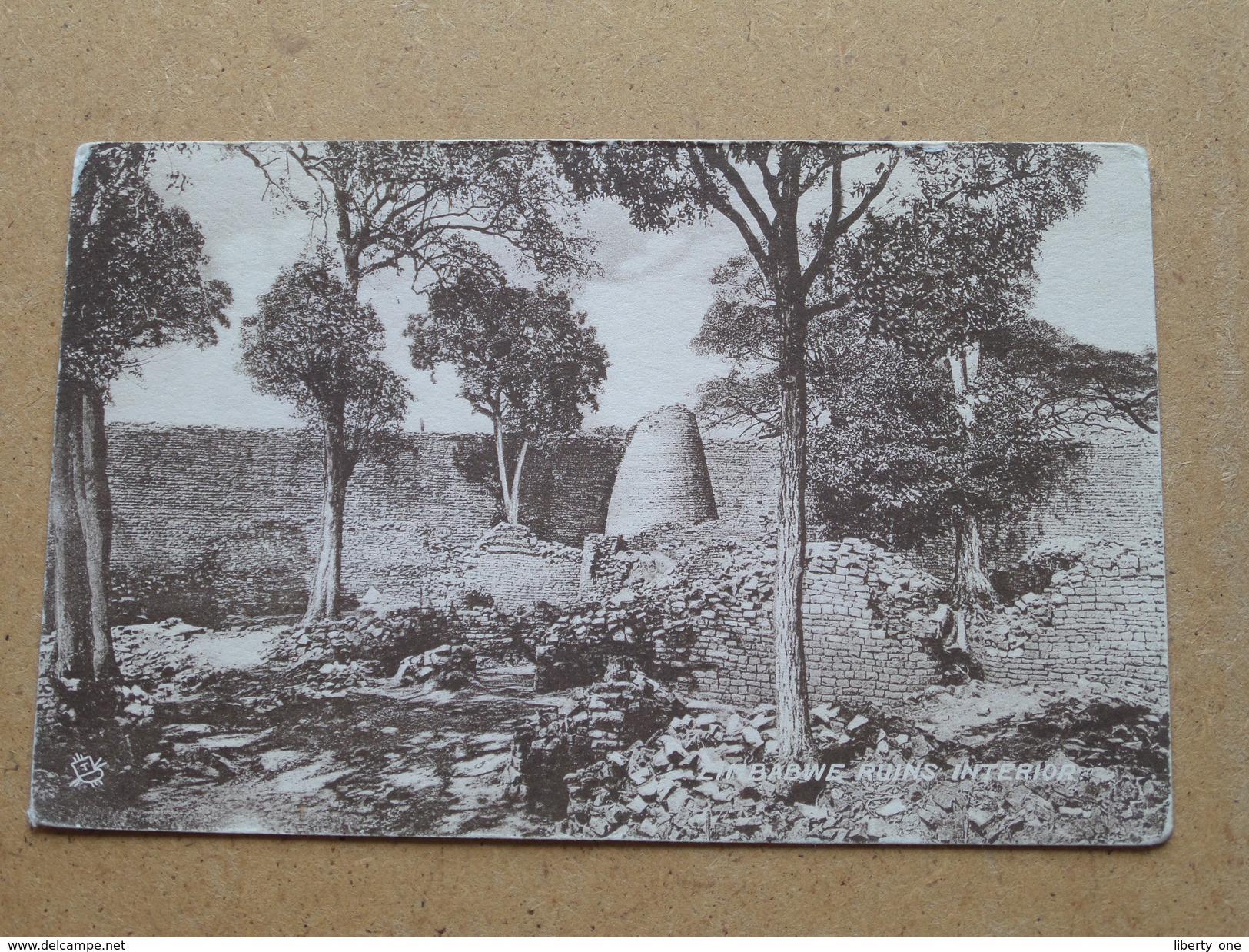 Zimbabwe Ruins Interior ( Tuck / Sepia ) Anno 19?? ( Details Zie Foto´s ) !! - Zimbabwe