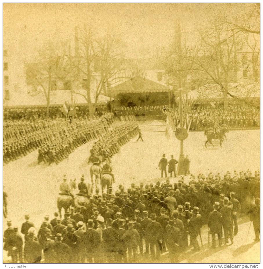 France Versailles Paris Expo Universelle Fêtes Du Centenaire Ancienne Stereo Photo LL 1889 - Photos Stéréoscopiques