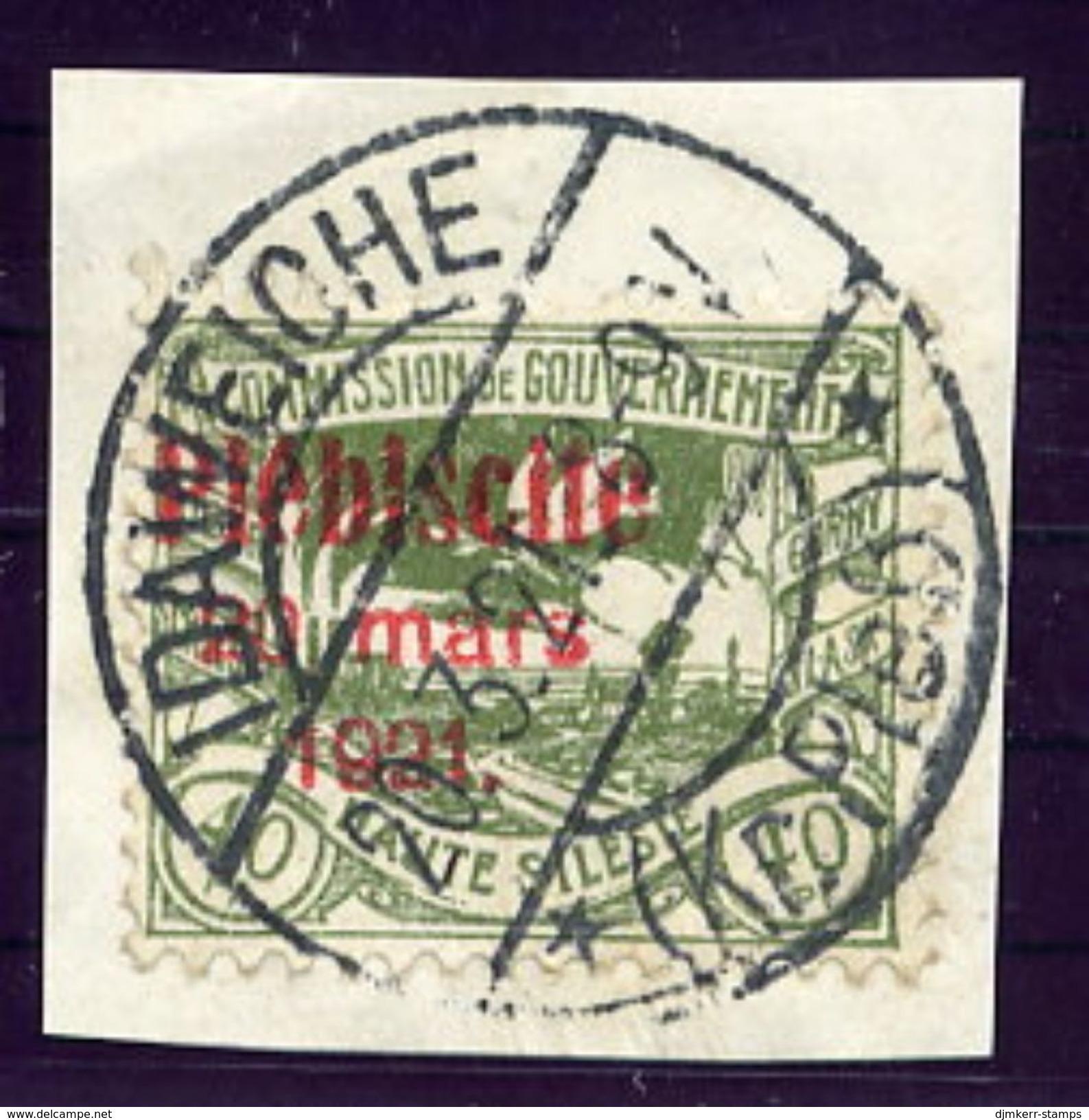 UPPER SILESIA 1921 Plebiscite Overprint On 40 Pfg. Used.  Michel 35 - Settori Di Coordinazione