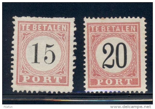 Nederlands Indië - 1882 - Port Cijferserie NVPH P6-13 - Compleet MH, Diverse Types En Diverse Kwaliteit - Nederlands-Indië