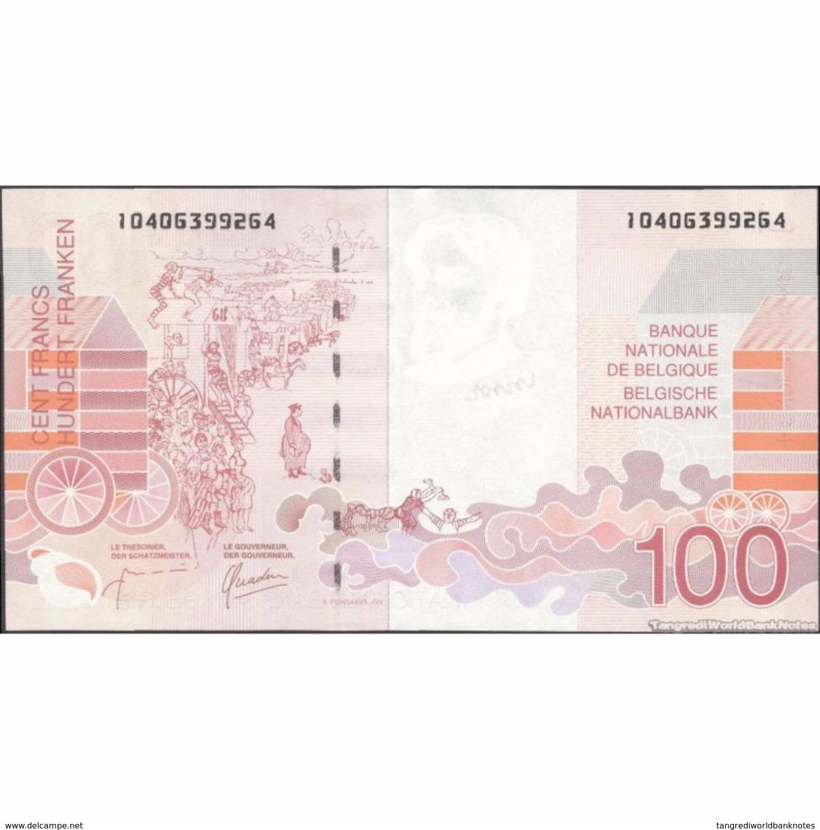 TWN - BELGIUM 147b - 100 Francs 1995-01 10406399XXX - Signatures: Masai & Quaden UNC - Altri