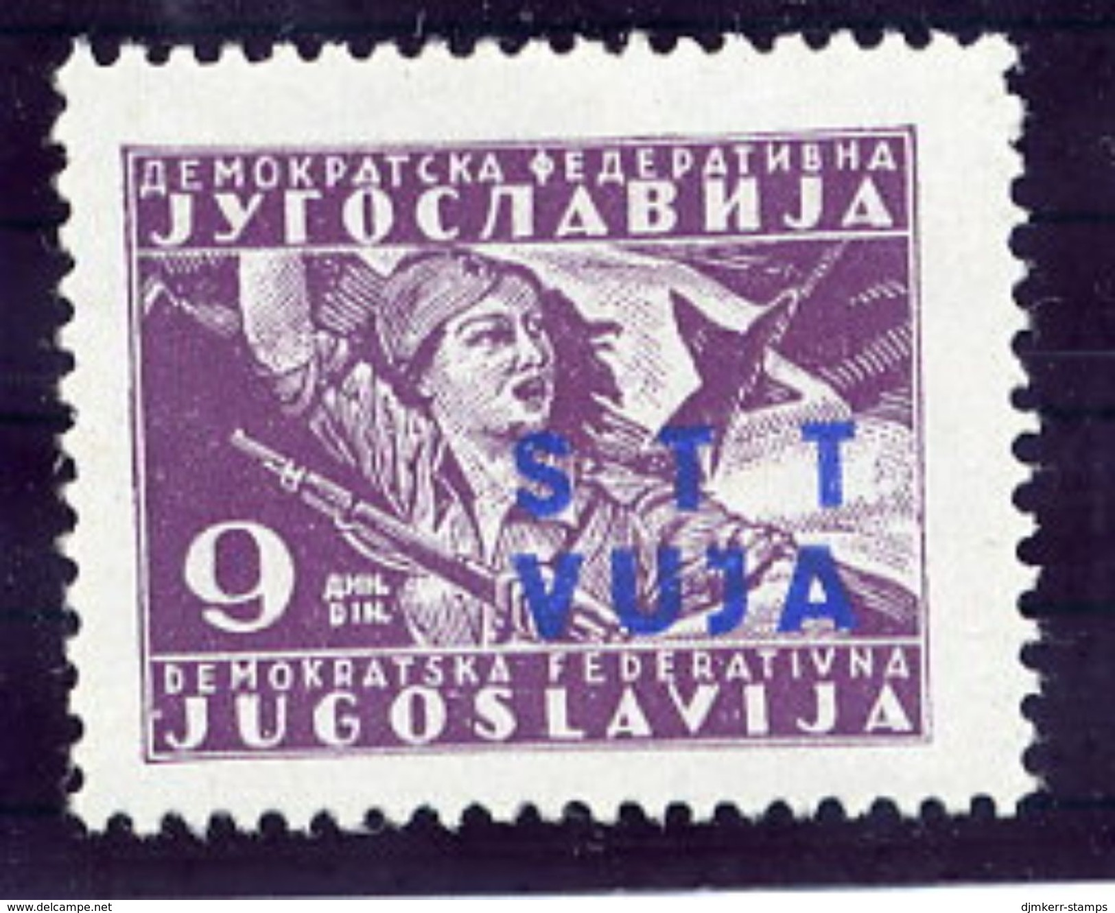 TRIESTE ZONE B 1949 Partisan Definitive 9 D. MNH / **,  Michel  18 - 7. Trieste