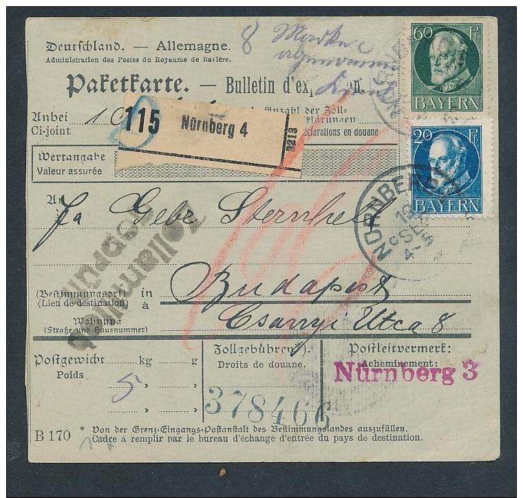 Bayern- Paket Karte ..  - Netter  Beleg  .( T3953 ) Siehe Scan - Bayern
