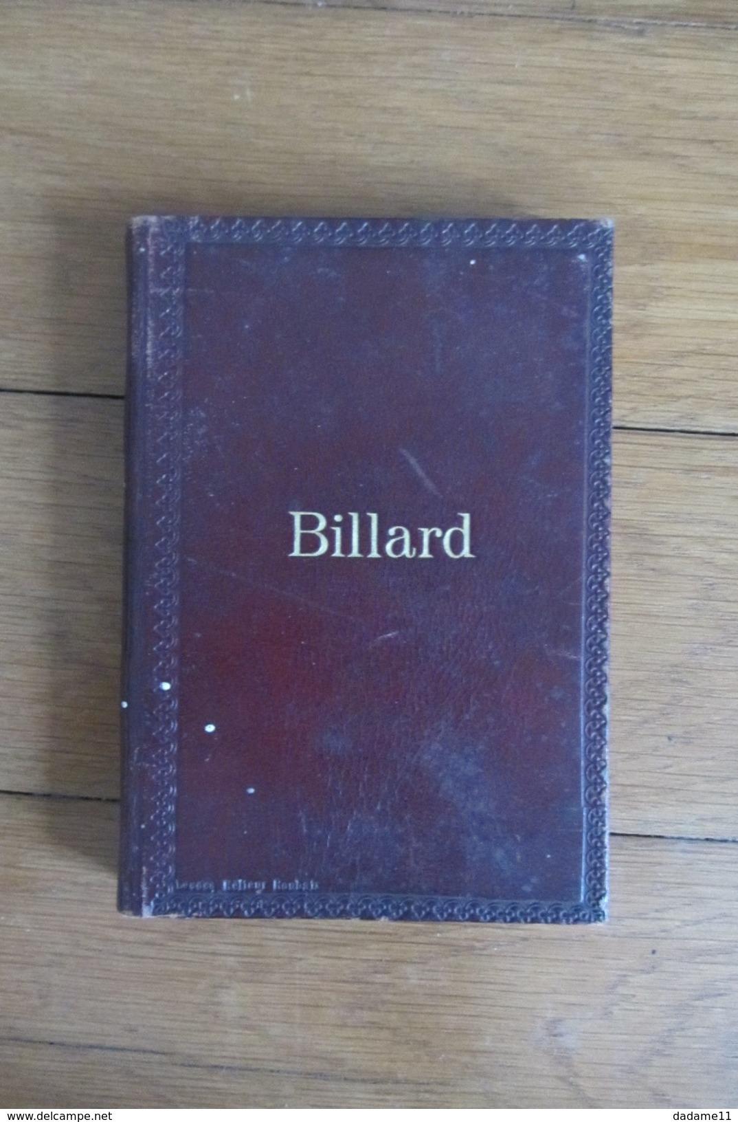 Rare Livre S Couleur Sur Le Billard Français Couleur 148 Pages - 1901-1940
