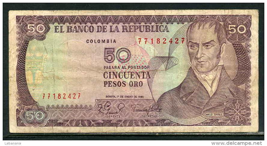 25-Colombie Billet De 50 Pesos Oro 1980 - 771 - Colombie