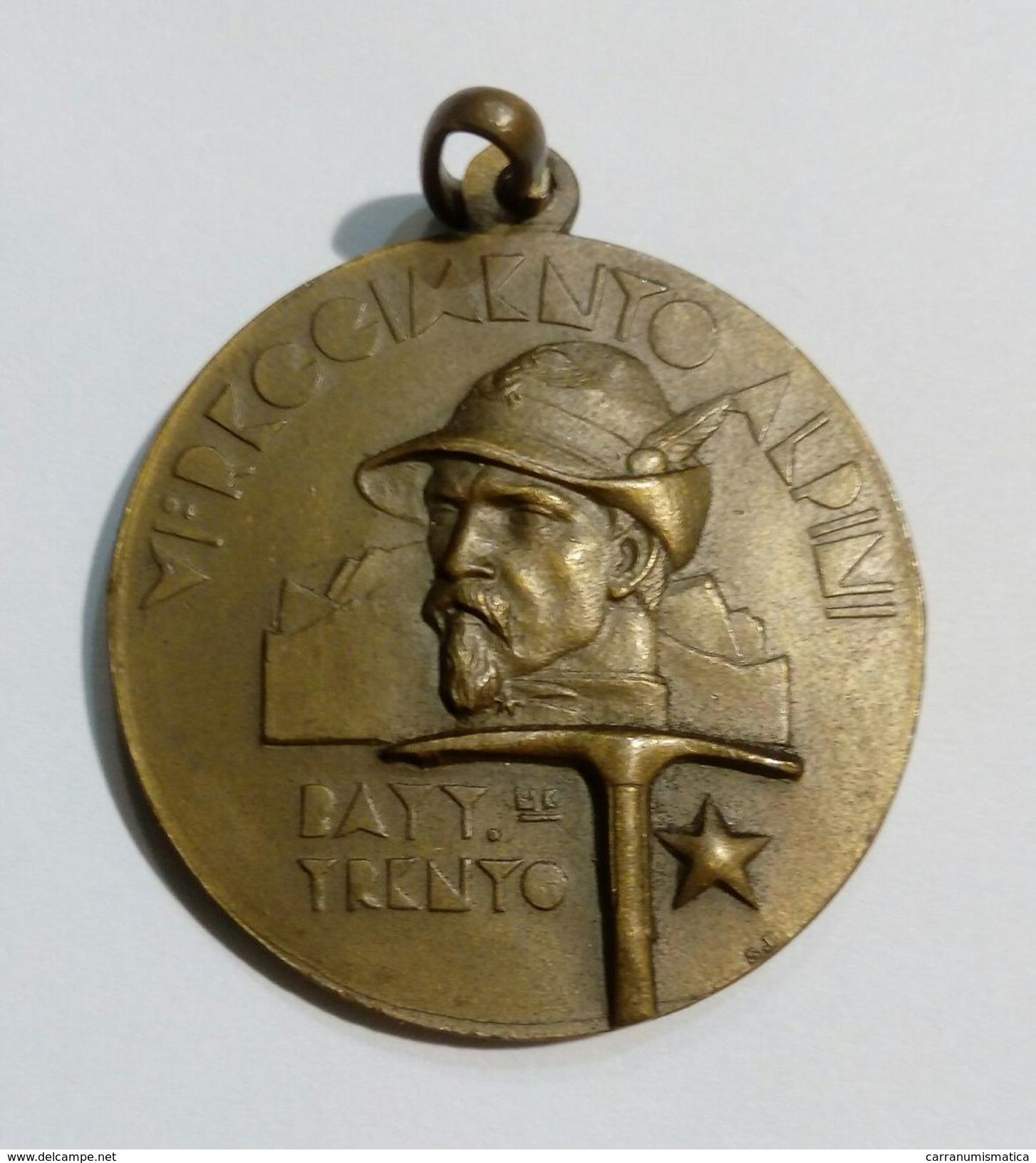 """Medaglia In Bronzo Commomorante L'Inaugurazione Della Caserma """"Cesare Battisti"""" Di Trento (15 Maggio 1939) - Italia"""