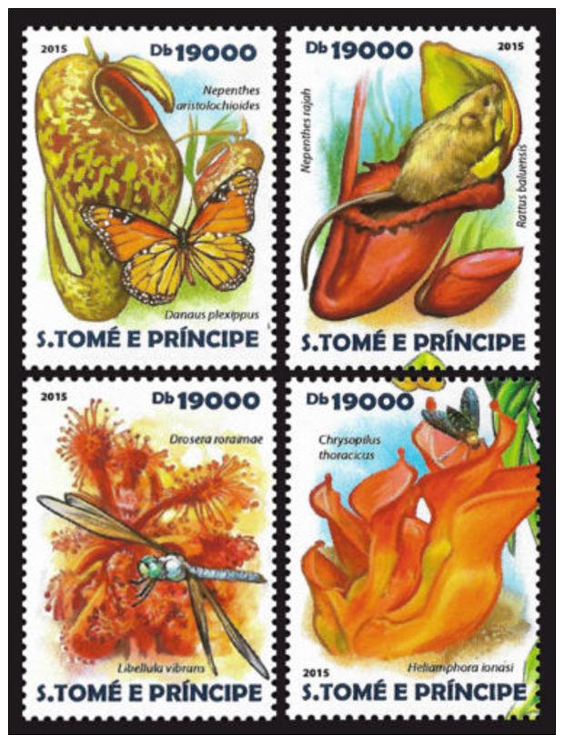Sao Tome Carnivorous Plants 4v Set MNH Yvert & Tellier:4895-4898 - Sao Tomé E Principe
