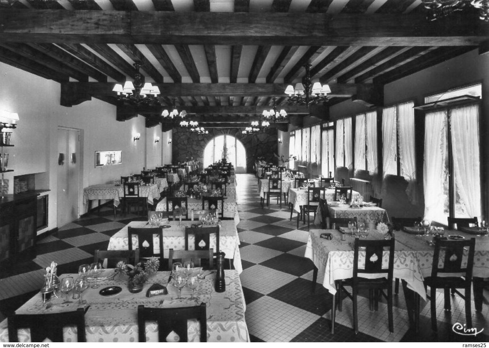 (FC) CPSM  Parcey Hostellerie De L' As De Pique Salle A Manger  (bon Etat) - Autres Communes