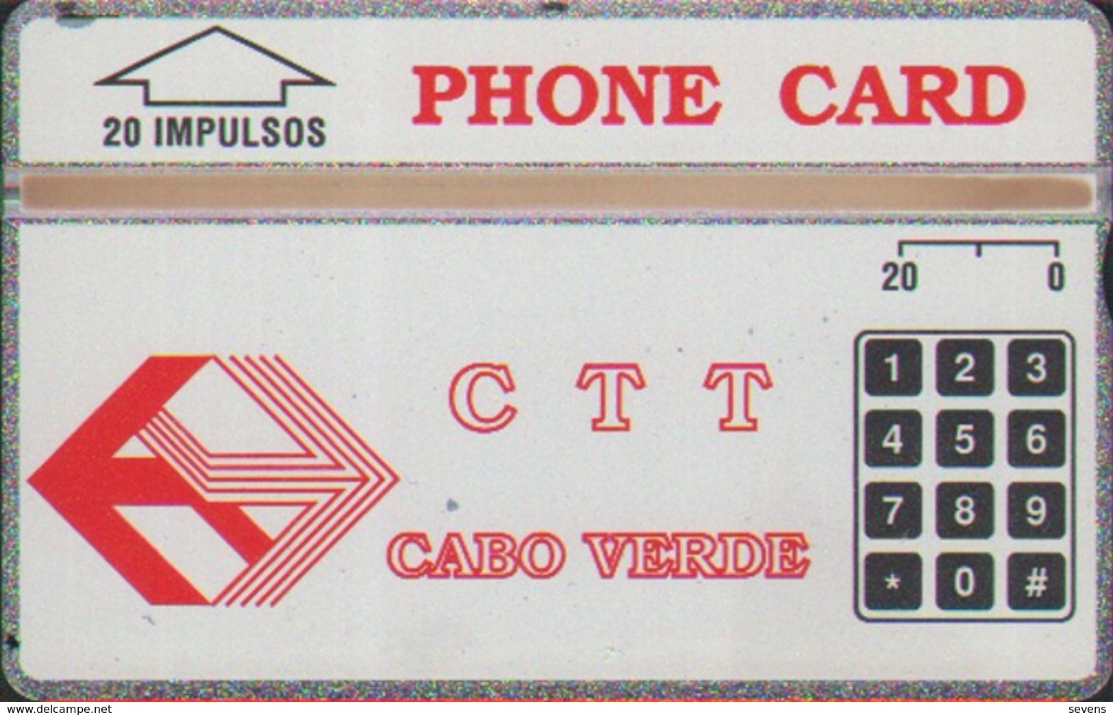 L&Gyr CPV-1e Red CTT Logo,CN:304A,mint Tiny Oxide,issued In 1993 - Cap Vert