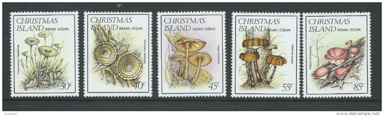 Christmas Island 1984 Mushroom Fungi Set Of 5 MNH - Christmas Island
