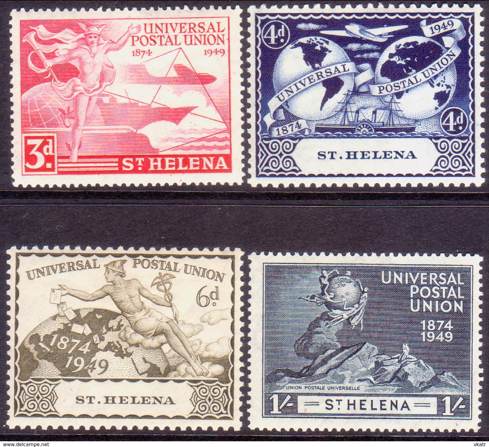 ST HELENA 1949 SG #145-48 Compl.set MH UPU Centenary Light Crease On 3d Not Seen On Front - Saint Helena Island