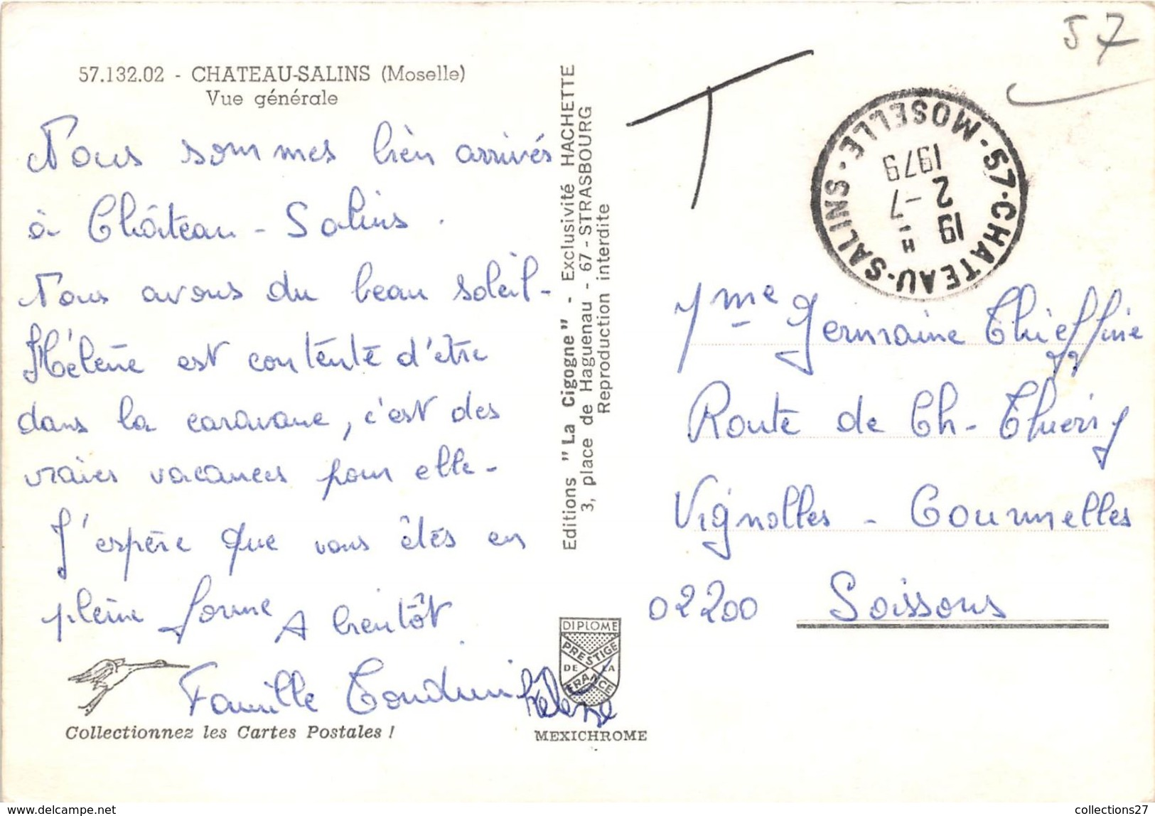 57-CHATEAU SALINS- VUE GENERALE - Chateau Salins