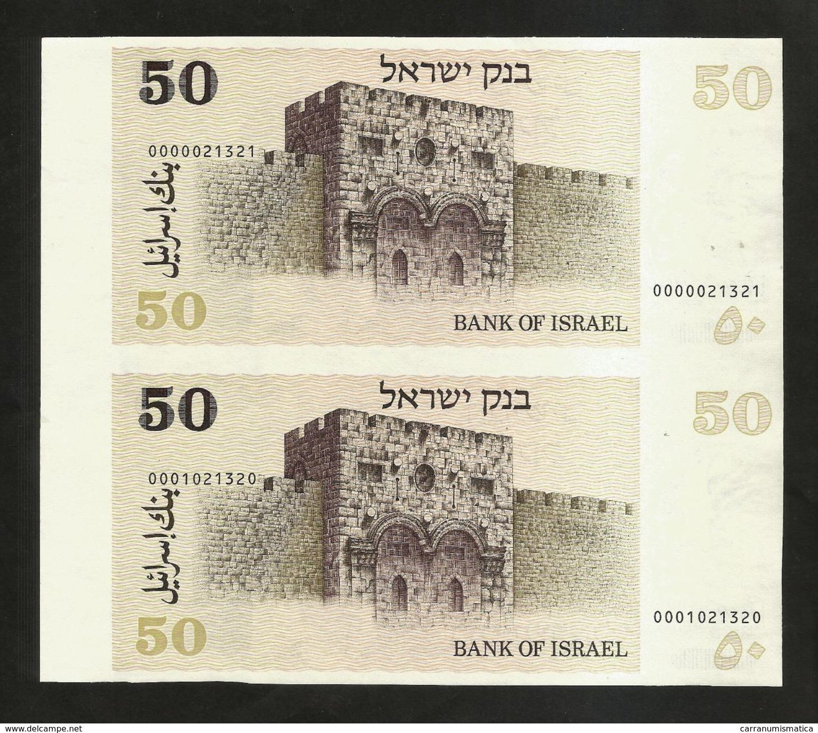 Uncut Banknotes - ISRAEL - BANK Of ISRAEL - 50 Sheqel (1978) - Israel