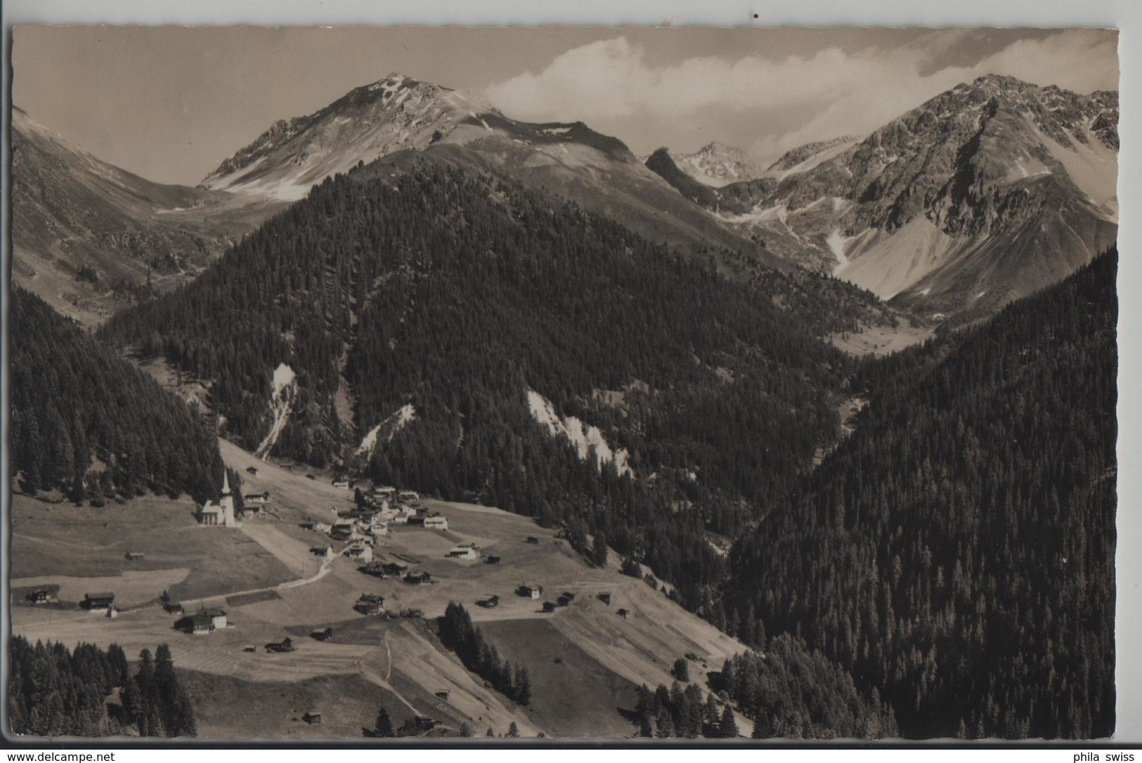 Monstein Bei Davos Gegen Krachenhorn Und Gipshorn - Photo: Otto Furter - GR Grisons