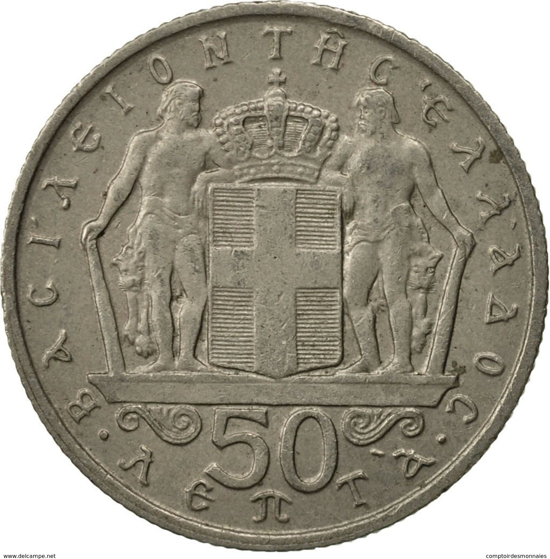 Grèce, Constantine II, 50 Lepta, 1966, TTB, Copper-nickel, KM:88 - Grèce