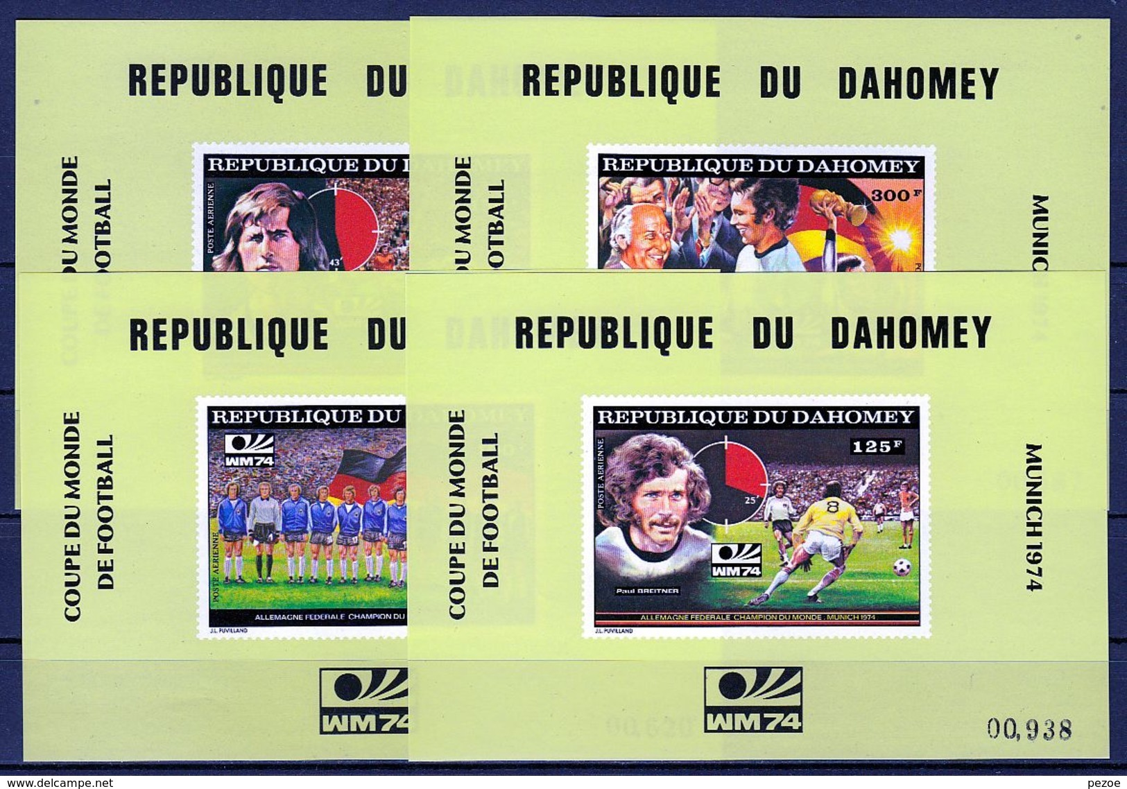 Football / Soccer / Fussball - WM 1974: Dahomey   4 SoBl ** - Fußball-Weltmeisterschaft