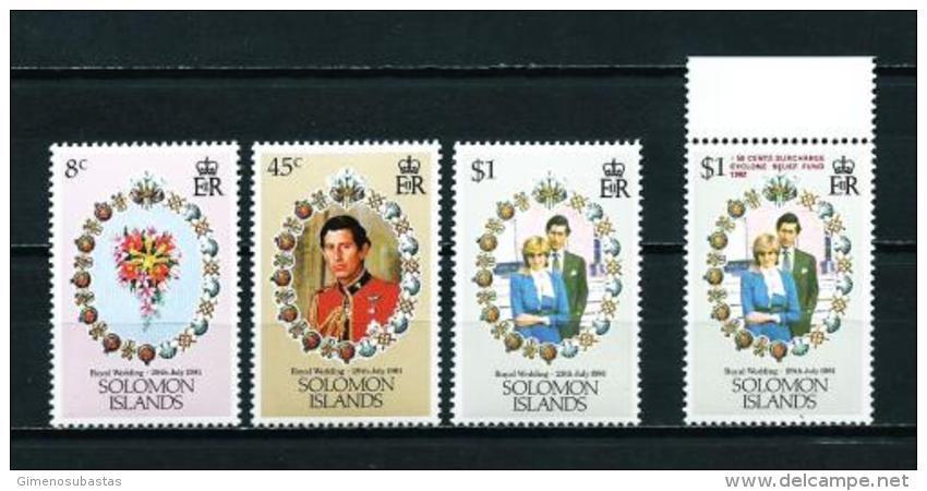 Islas Salomón  Nº Yvert  432/4 - 455 (sobrecarga)  En Nuevo - Islas Salomón (1978-...)