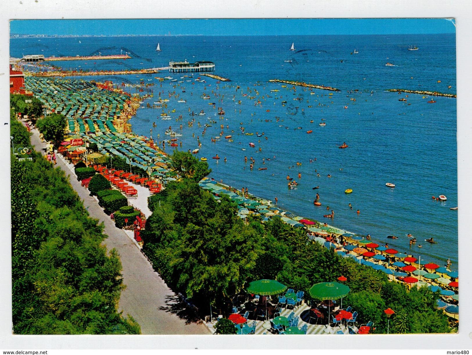 GABICCE  MARE    PARTICOLARE  DEL  LUNGOMARE       (VIAGGIATA) - Italia