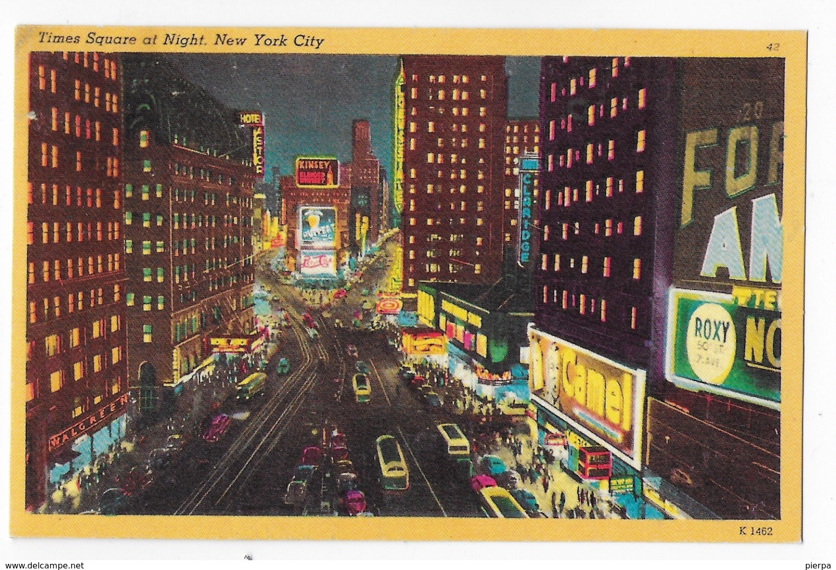 STATI UNITI - U.S.A. - NEW YORK - TIMES SQUARE NOTTURNO - ANNI '50 - NUOVA NV - Time Square