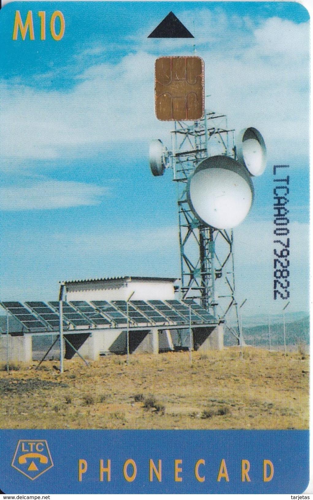 TARJETA DE LESOTO DE UNA ANTENA PARABOLICA PARA SATELITES  (SATELLITE) - Lesotho