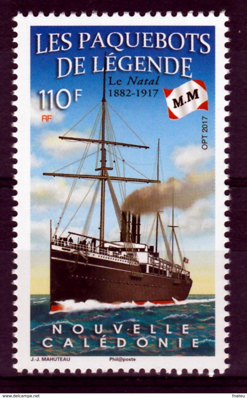"New Caledonia, Ship, French Ocean Liner, ""le Natal"", 2017, MNH VF - Nuova Caledonia"